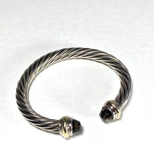 David Yurman 7MM Smoky Quartz 14K/925 Bracelet